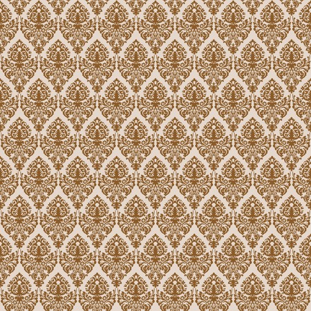 venetian victorian: brown damask seamless texture, abstract pattern,  art illustration