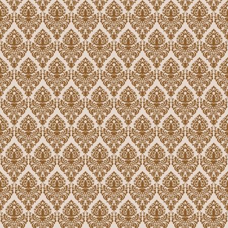 brown damask seamless texture, abstract pattern,  art illustration