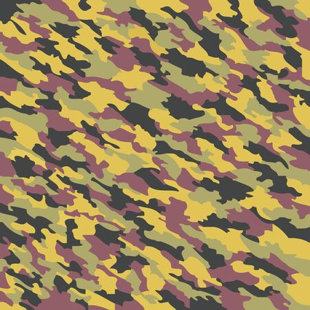 fatigues: camouflage texture, abstract art illustration