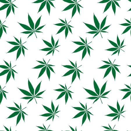 hemp: cannabis seamless pattern extended, abstract texture,  art illustration Stock Photo