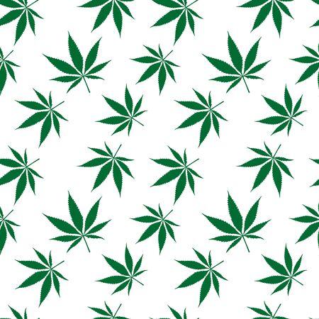 cannabis seamless pattern extended, abstract texture,  art illustration Stock Photo