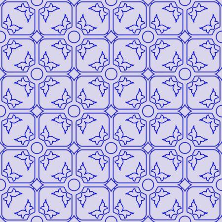 floral seamless blue pattern, abstract texture,  art illustration Foto de archivo
