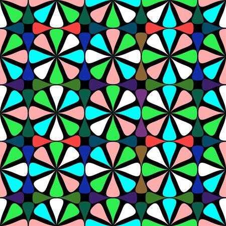 geometric seamless pattern,  art illustration Stock Illustration - 7336476