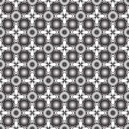 gray seamless flowers texture, abstract art illustration Stock Illustration - 7336957