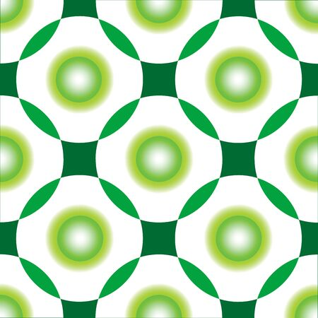 green circles seamless pattern, abstract drawing, art illustration Stock Illustration - 7335718
