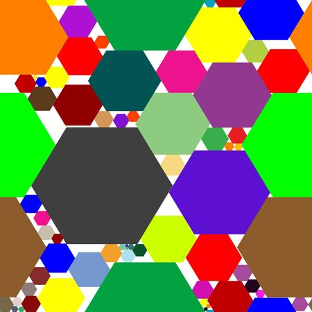hexagon seamless pattern, art illustration Stock Illustration - 7335619