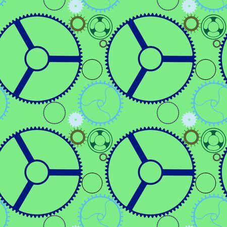 gearings: mechanic wheels seamless pattern extended, art illustration