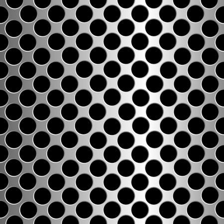 metallic circles texture, abstract seamless pattern, art illustration Stock Illustration - 7335773