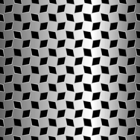 metalen diamanten patroon, abstracte naadloze patroon, kunst illustratie  Stockfoto