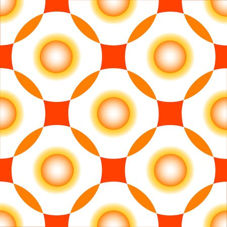 orange circles seamless pattern, abstract art illustration illustration