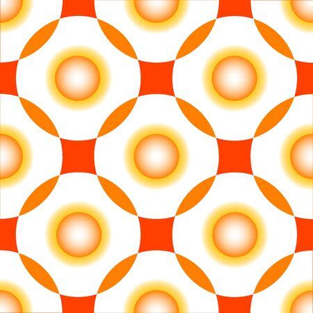 orange circles seamless pattern, abstract art illustration Stock Illustration - 7335728