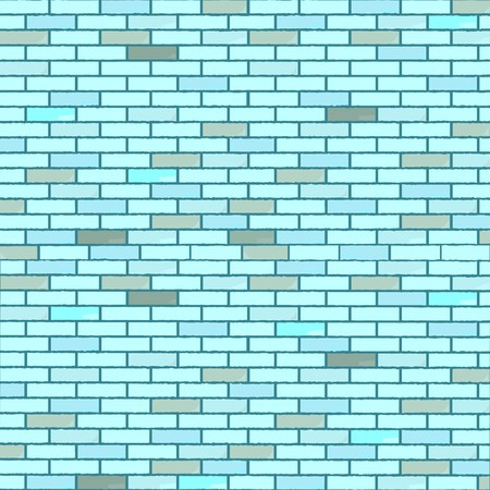 blue seamless bricks wall, abstract texture, art illustration 免版税图像