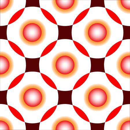 red circles seamless pattern, art illustration Stock Illustration - 7335893