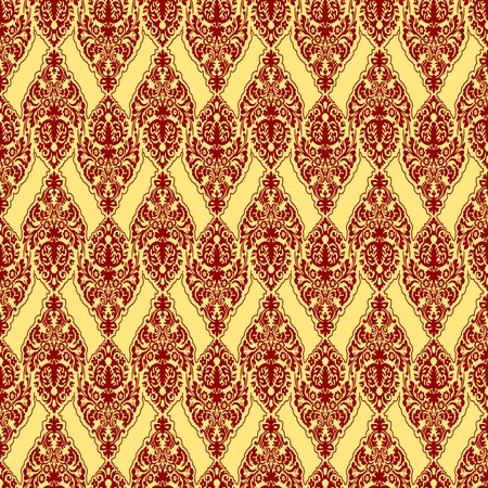 leafs: red damask texture, abstract seamless pattern,  art illustration