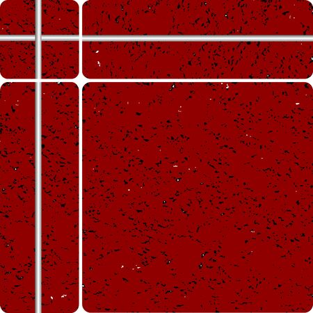 red stone tipe ceramic tiles, art illustration, easy to modify colors illustration