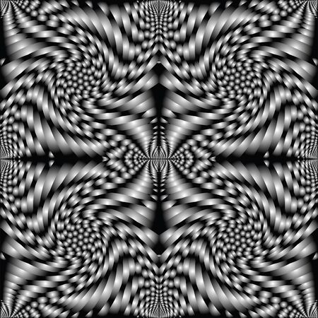 retro spiral black texture, art illustration illustration