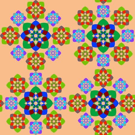 seamless geometric shapes texture, abstract pattern,  art illustration Stock Illustration - 7336652