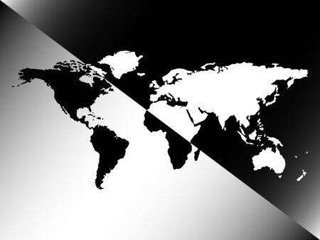 grafische wereldkaart ontwerp, abstract vector kunst illustratie