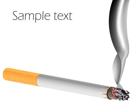 filter cigarette against white background, abstract vector art illustration