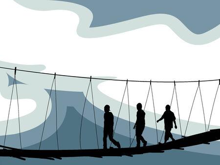 Crossing Brücke Zusammensetzung, abstract Vector Art illustration Standard-Bild - 7417368