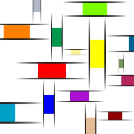 mondrian abstract texture, vector art illustration Banco de Imagens - 7417360