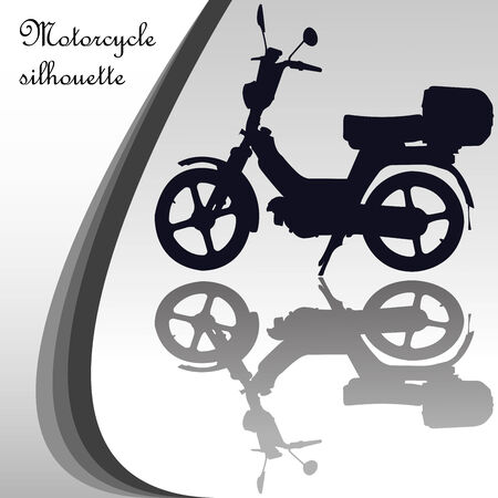 motorcycle silhouette, abstract vector art illustration Illustration