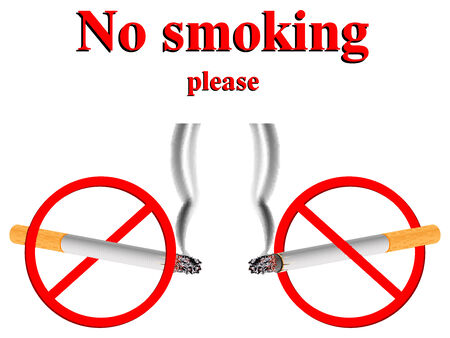 no smoking stylized signs against white background, abstract  art illustration Vector