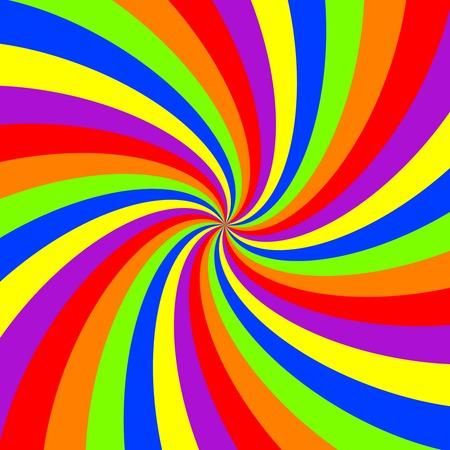 rainbow swirl pattern, abstract art illustration Stock Vector - 7441247