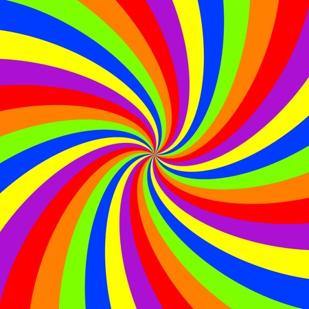 radial: rainbow swirl pattern, abstract art illustration