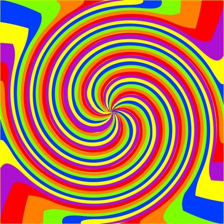 swirl rainbow composition, abstract art illustration