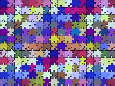retro seamless puzzle texture, abstract pattern; vector art illustration