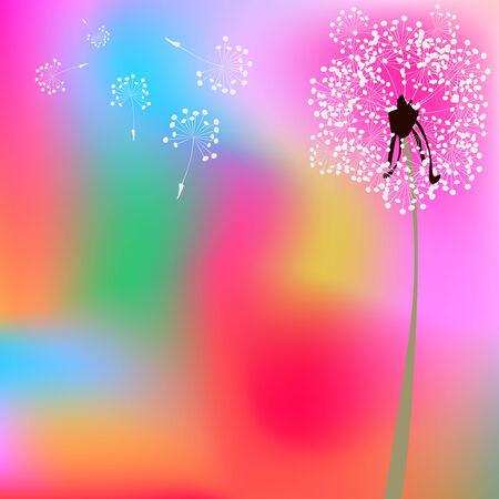 Paarde bloem samenstelling, abstracte vector kunst illustratie