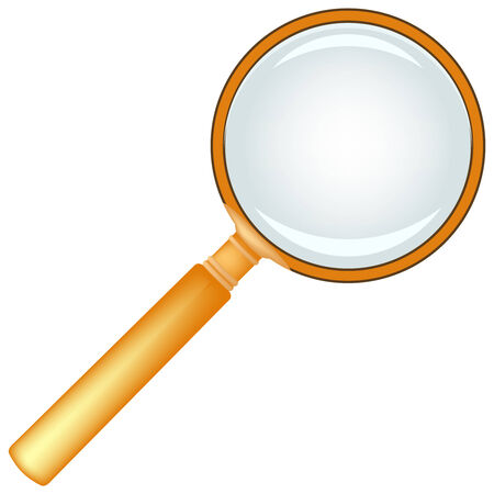 wooden magnifying glass against white background, abstract vector art illustration Stock Vector - 7590721