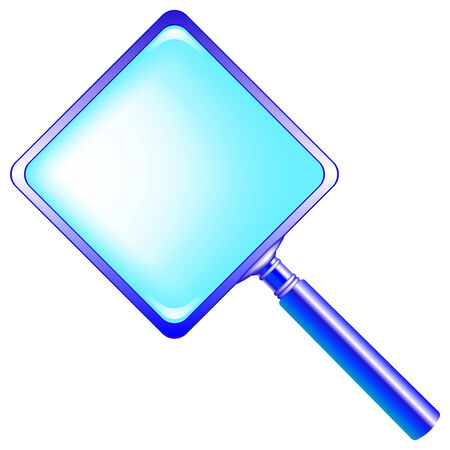 square blue magnifying glass against white background, abstract vector art illustration Stock Vector - 7590726