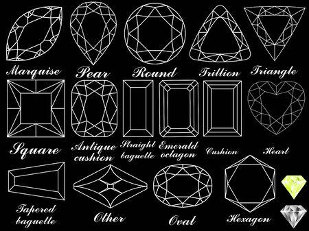white diamonds against black background, abstract vector art illustration Stock Vector - 7590740