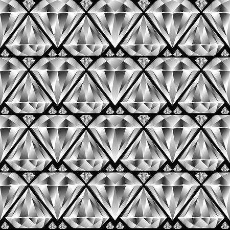 diamond seamless pattern, abstract texture; vector art illustration