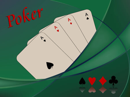 poker cards composition, abstract  art illustration
