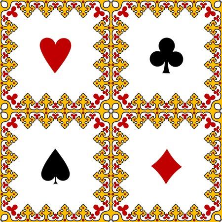 playing card symbols: marco de s�mbolos de cartas, ilustraci�n de arte abstracto