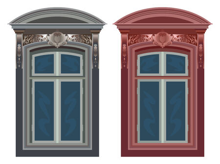 windows against white background, abstract  art illustration