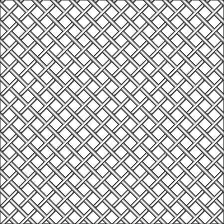 Design mit metallischen realistische Mesh, abstrakte seamless Pattern, Abbildung Kunst  Standard-Bild - 7824270