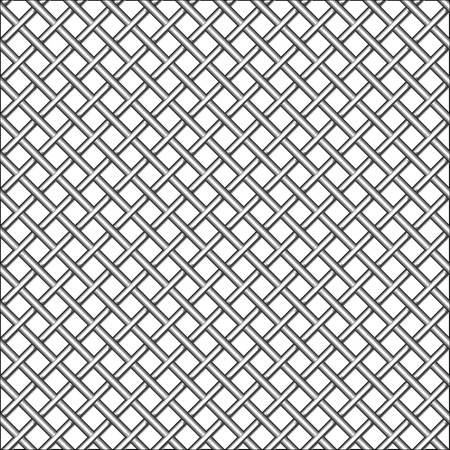 netting: design with metallic realistic mesh, abstract seamless pattern,   art illustration Illustration