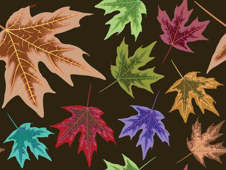 jachere: patron sans soudure de feuilles s�ches, texture abstract art illustration