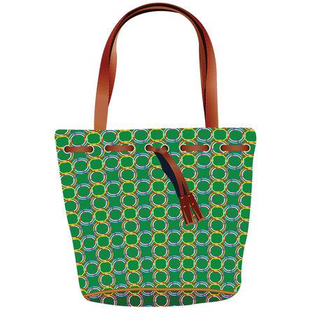 hand bag: Bolsa de mano retro sobre fondo blanco, ilustraci�n de arte abstracto de vector