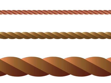 tug: corda vettoriale su sfondo bianco, illustrazione di arte astratta