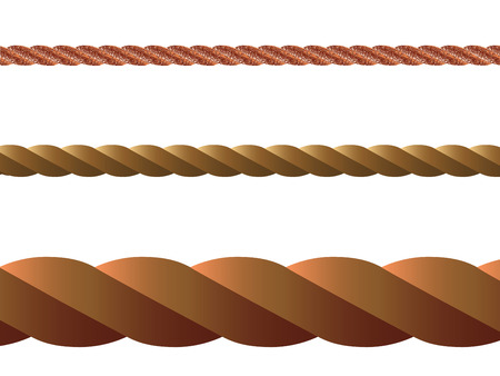 fastening: rope vector against white background, abstract art illustration Illustration