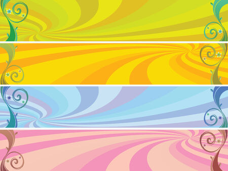 colored headers background, abstract vector art illustration Vector
