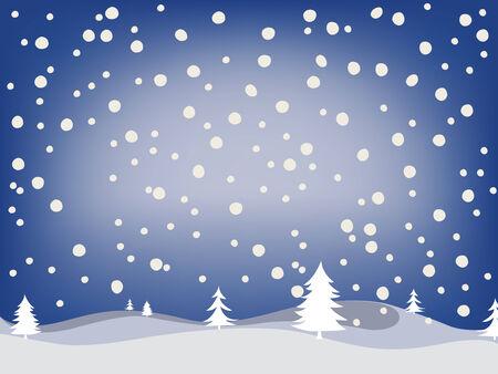 冬の背景、抽象的なベクトル アート イラスト