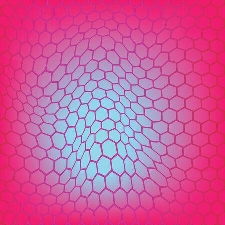 wavy mesh composition, abstract vector art illustration