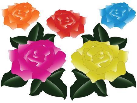 roses against white background, abstract vector art illustration Иллюстрация