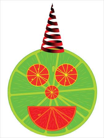 man abstract: lemonade man, abstract art illustration Illustration